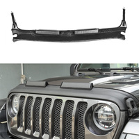 YAQUICKA Car covers Fit For Jeep Wrangler JL 2018+ Car Front Hood Engine Protection Cover Car Styling Accessories PU Leather