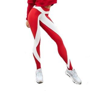 Image 5 - 새로운 패션 여성 하이 웨이스트 운동 레깅스 인쇄 펑크 여성 피트니스 스트레치 바지 캐주얼 슬림 팬츠 레깅스 6 스타일