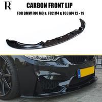 M3 M4 3D Style Carbon Fiber Front Bumper Chin Lip for BMW F80 M3 F82 M4 Coupe F83 M4 Convertible 2012 2019