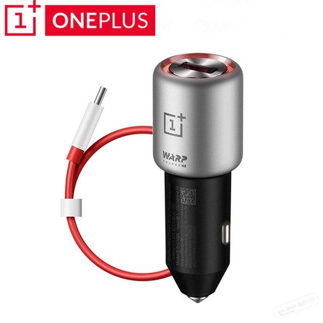 Orijinal Oneplus Çözgü Şarj 30 araba şarjı Çıkış 5V 6A Max AB İNGILTERE Girişi 12V 24V Normal QC oneplus 3 için/3t/5/5 T/6/6 T/7