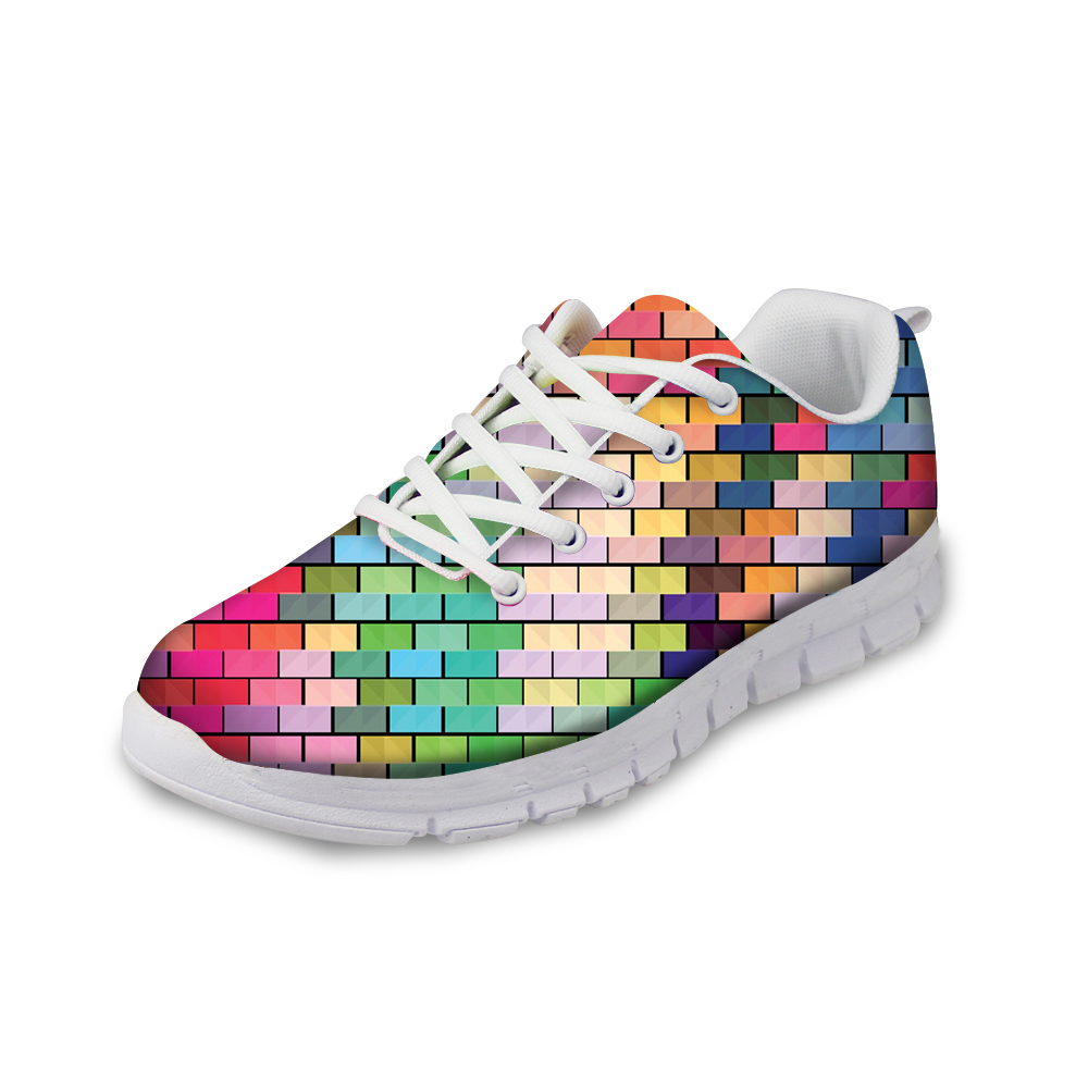 ФОТО Spring Autumn Winter Women's Shoes Candy Color Lattice Air Cushion Shoes for Sport Trainers Female Daily Waking Casual Shoes