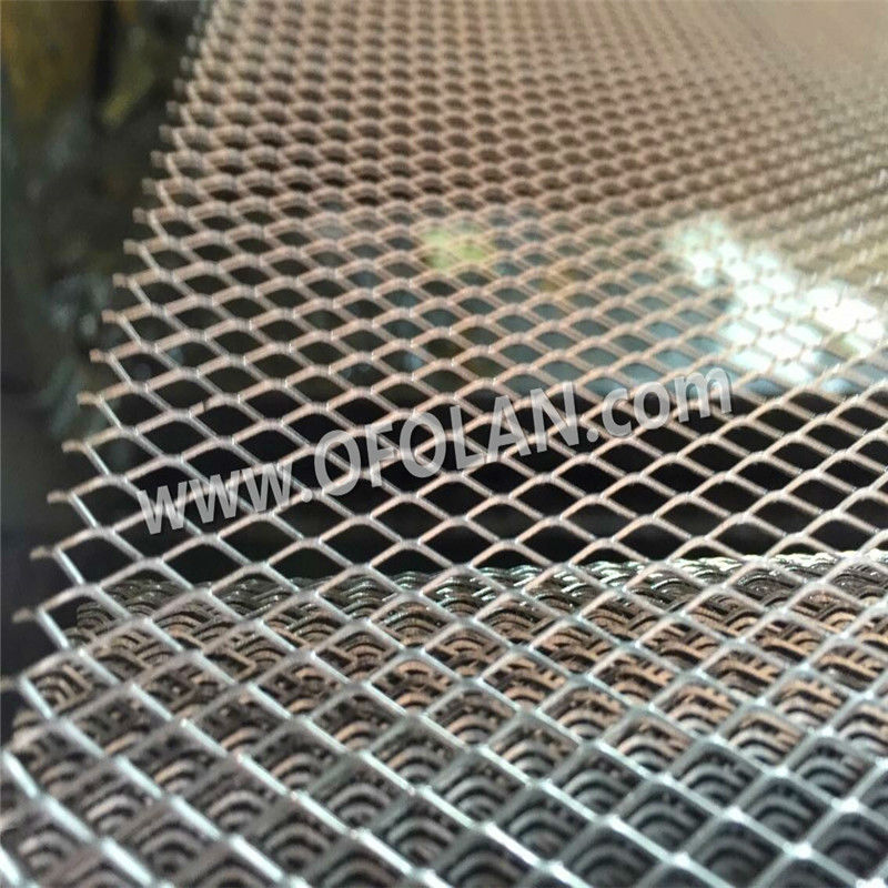 Diamond Hole 4.0mm*8.0mm Titanium Expanded Filter Mesh For Battery Electrode(Gr1 In Stock) Factory Direct Sales 10cm*20cm