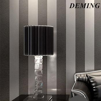 DEMING wall paper  Modern 3D Embossed Strip Wallpaper For Living Room Silver And Gray Striped papel de pared Roll Desktop   N323 peugeot 307 aksesuar