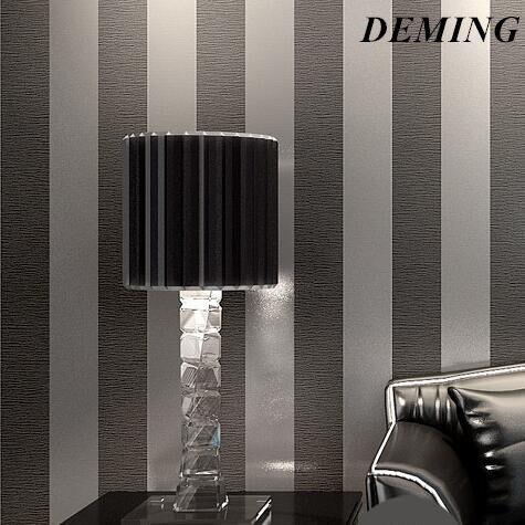 DEMING Tapeten Moderne 3D Geprägte Streifen Tapete Für Wohnzimmer Zimmer  Silber Und Grau Gestreifte Papel De Pared Rolle Desktop N323