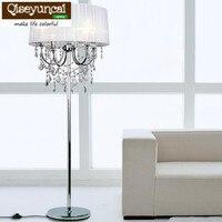 Qiseyuncai Elegant luxury led crystal Floor Lamps Indoor Brightness Modern Stand Light for Living Room Sofa Bedside Piano Lamp