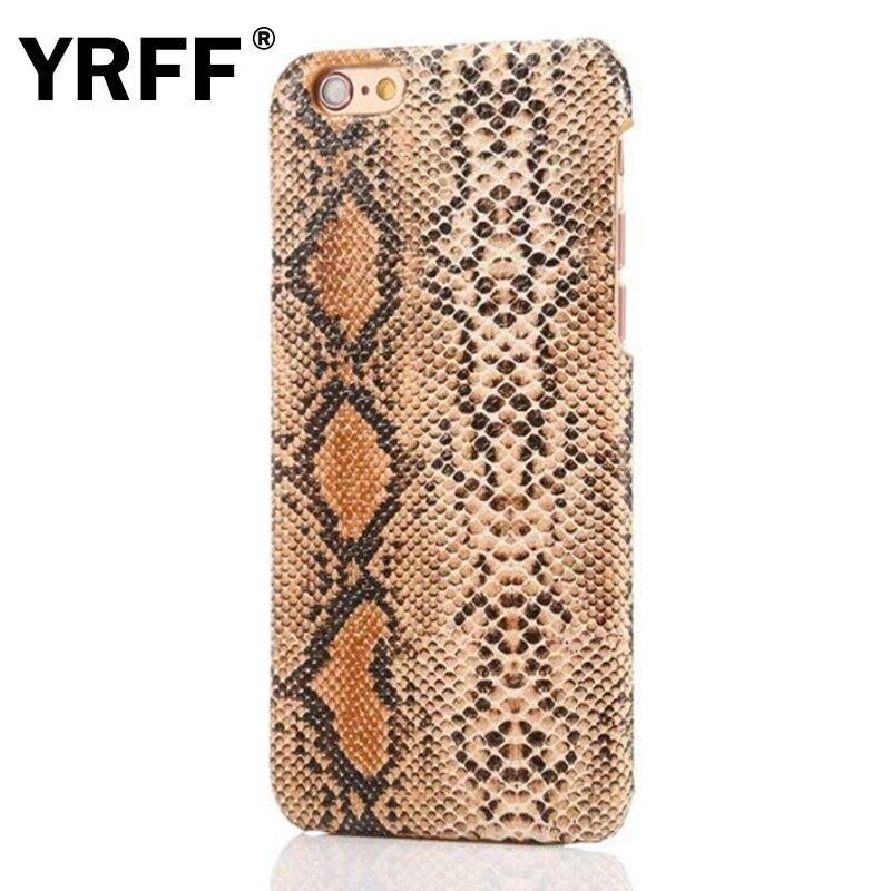 YRFF Retro Crocodile Snake pu Kožené pouzdro pro iPhone 7 Plus Snake Hard Zadní Kryt pro iPhone 5S 5 SE 6 6S 7 Plus pouzdro na telefon