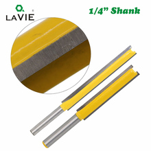 LA VIE Router Bit 1/4 Shank Extension Long Straight Trimming Knife CNC Bit Milling Cutters for Wood Edge Cutting MC01002
