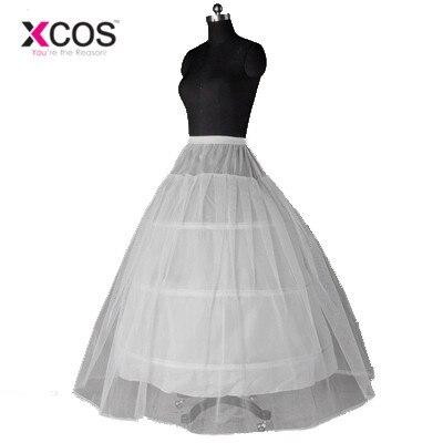 XCOS Petticoat Wedding Dress Apannier Wedding Dress Underskirts 3 Circle Can Use Inside Dress Underwear