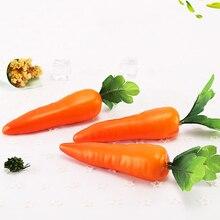 1pcs Carrots Mini Artificial Plastic Foam Simulation Carrot Fruit And Vegetable Berry Home Kitchen Decorative Photography Props
