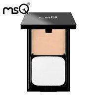 Nueva MSQ 2 Color Compacto Mineral Corrector de Control de Aceite de Maquillaje Paleta de Blush Iluminador Rostro Base Polvos prensados Comestic maquillaje