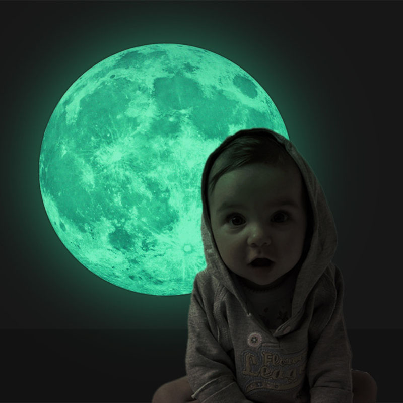 5 Colors 3D Luminous Planet Wall Stickers World Moonlight Glow In ...