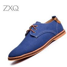 Zxq плюс размер 38-47 Мужская обувь Повседневное Летний стиль сплошной Цвет дышащая Для мужчин Туфли без каблуков Мокасины Лоферы Мужская обувь