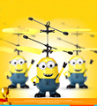 2016 Venda Quente Filme Character Minions RC Helicóptero Aeronaves Voando Indução Kid Brinquedos RC Avião