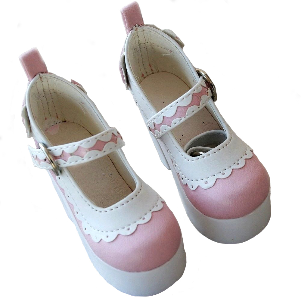 [wamami] 55# Pink 1/4 MSD DZ AOD BJD Dollfie High Heels Leather Shoes 1 3 1 4 1 6 1 8 1 12 bjd wigs fashion light gray fur wig bjd sd short wig for diy dollfie