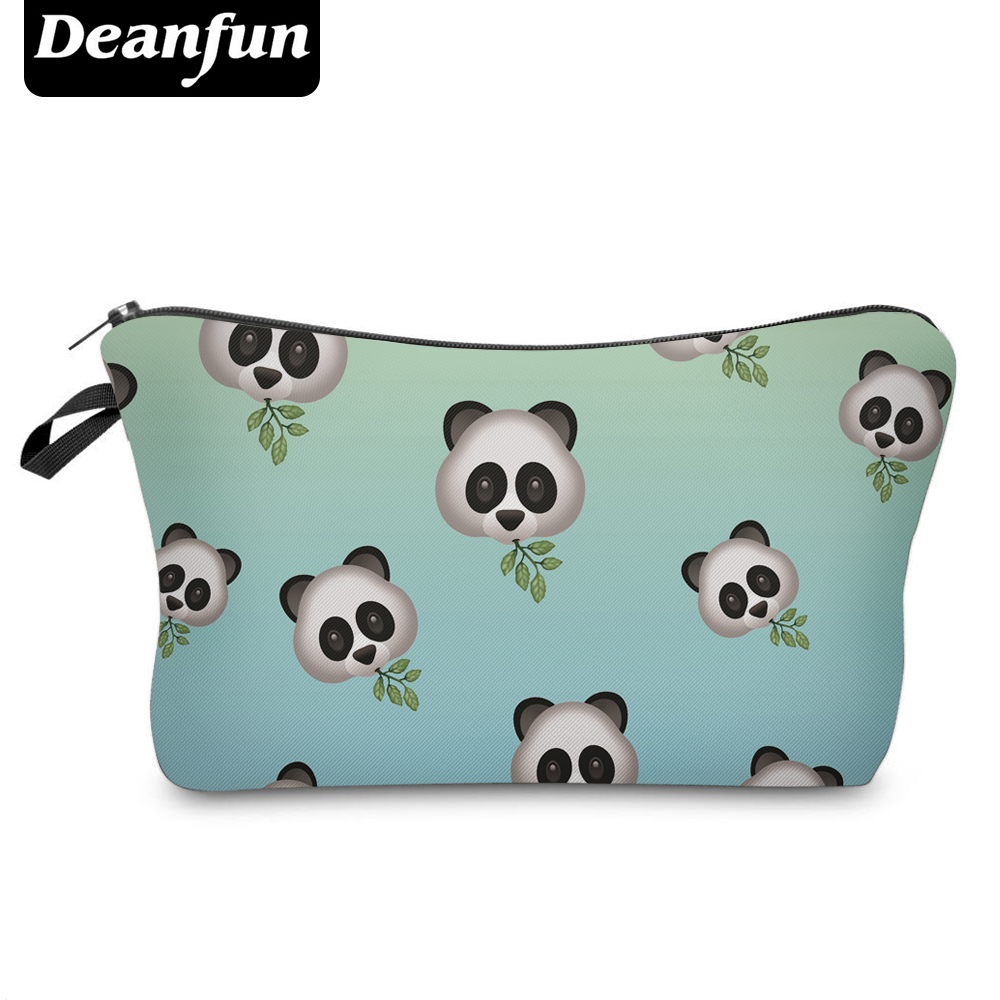 Deanfun Cute Cosmetic Bags 3D Printed Panda Women Makeup Organizer For Travelling Necessaries  50157