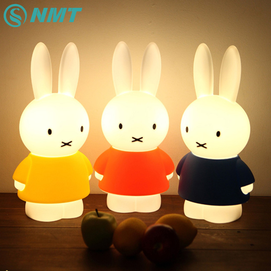 45cm Rabbit LED Night Light Children Baby Bedroom Night Lamp Home Decoration Bedside Lamp for Christams New Year Birthday Gift