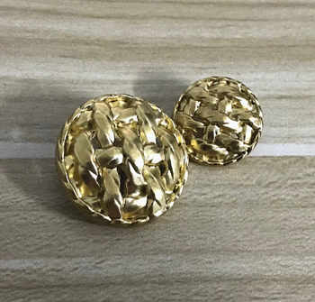 New arrival big golden weaving buttons for cloth,coat,sweater,skirt,dress DIY material 20mm/30mm 10 pieces a lot - DISCOUNT ITEM  0% OFF All Category