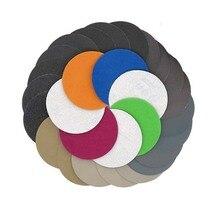 30 teile 75 80mm/3 Inch Grit 800/1000/1200/1500/2000/ 3000 wasser Trocken Schleifen Discs Haken Schleife Schleifpapier Runde Schleifpapier Disk Sand Blatt