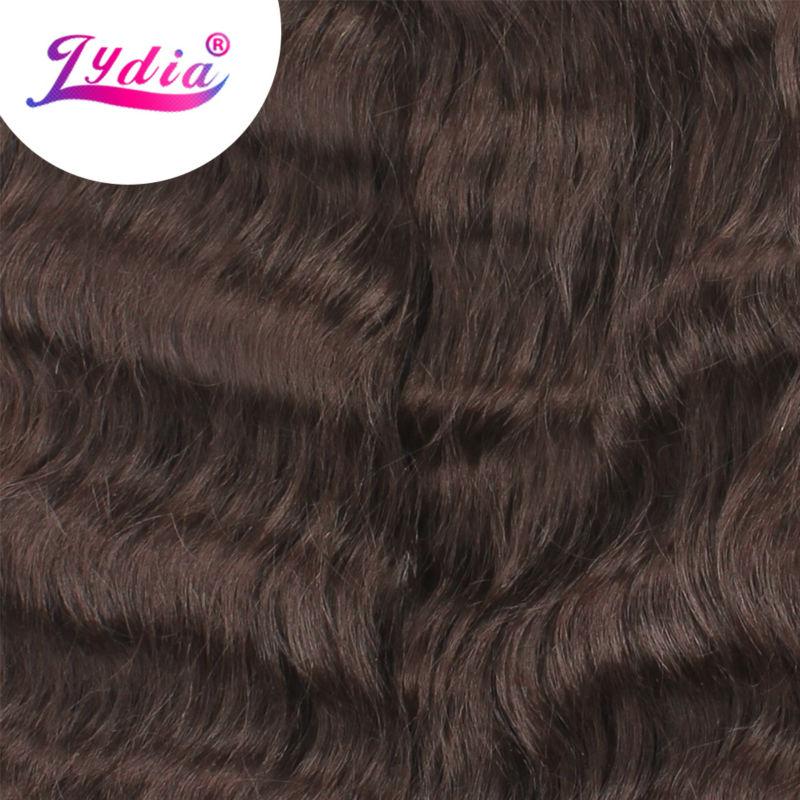 Lydia Syntetisk naturvåg 3Pieces / lot Naturfärg Futura Blandat - Syntetiskt hår - Foto 3