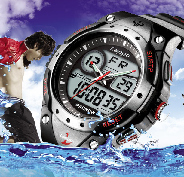 100 Meters Waterproof 2020 Fashion Brand Luxury Military Diver Quartz Watch Men Women Hiking Sports Digital LED Wrist Watch A125
