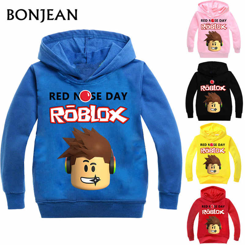 Roblox Hoodies Shirt For Boys Sweatshirt Red Noze Day Costume Children Sport Shirt Sweater For Kids Long Sleeve T-shirt Tops(China)