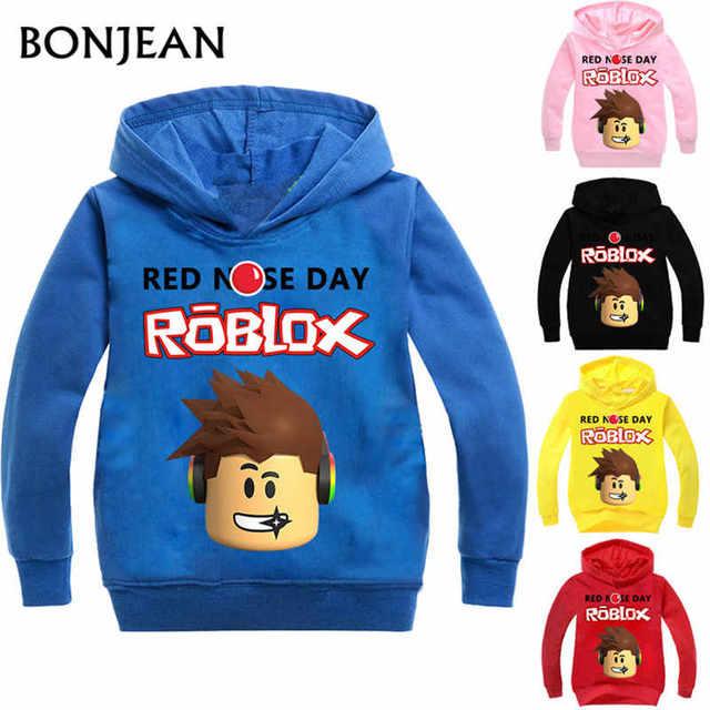 Roblox Hoodies Shirt For Boys Sweatshirt Red Noze Day Costume Children Sport Shirt Sweater For Kids Long Sleeve T-shirt Tops