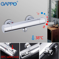 Gappo sistema de chuveiro termostática torneira do chuveiro cachoeira torneiras parede misturadora do banheiro chuveiros termostato
