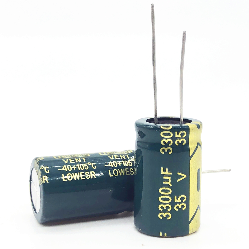 2pcs/lot 35V 3300UF  16*25  High Frequency Low Impedance Aluminum Electrolytic Capacitor 3300uf 35v