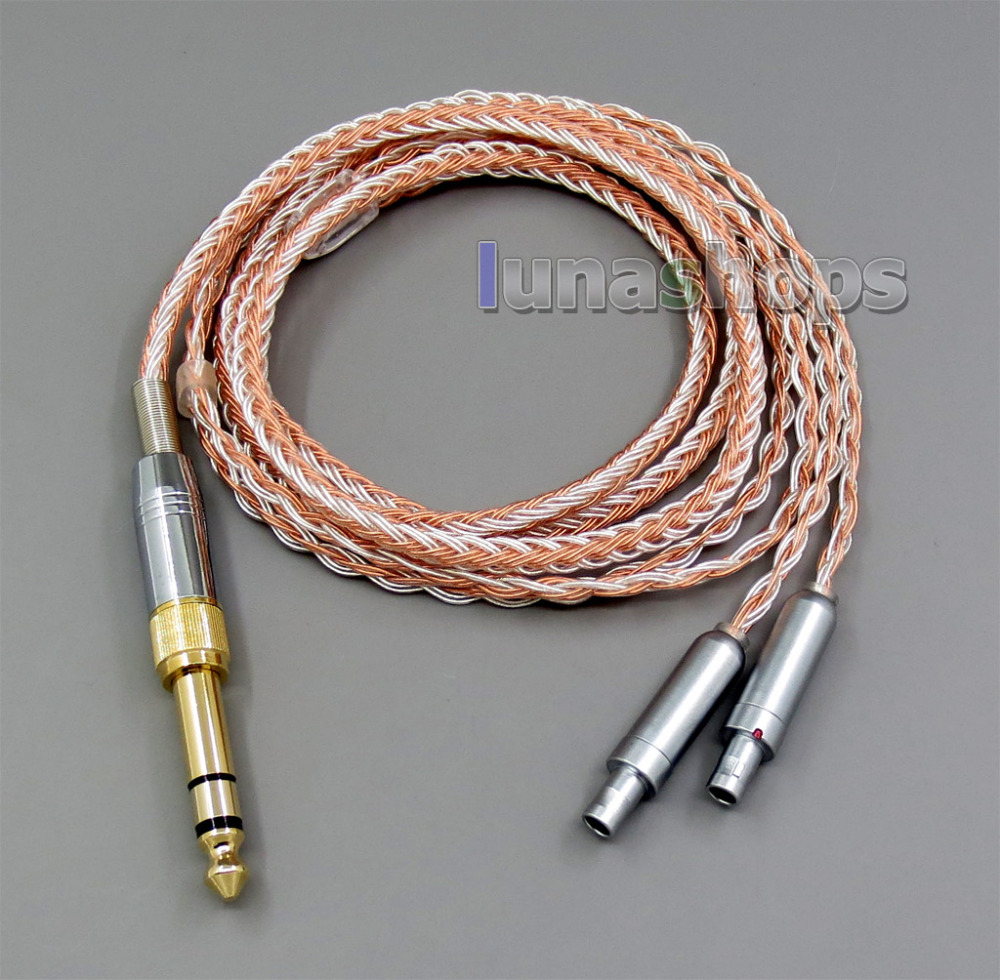 6.5mm 3.5mm 16 Cores OCC Silver Plated Mixed Headphone Cable For Senheiser HD800 HD800s LN005844 ручка шариковая carandache office infinite 888 253 gb swiss cross m синие чернила подар кор