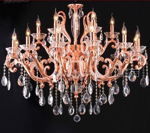 Luxury rose gold fashion crystal chandelier crystal lamp living luxury rose gold fashion crystal chandelier crystal lamp living room lights lighting restaurant lamp aloadofball Choice Image