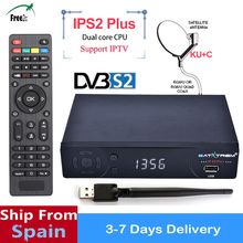 5PCS IPS2 Plus DVB S2 1080 p TV Receiver support  Europe IPTV 2500+Channels /clines /biss key Set Top Box PK  V super Receiver