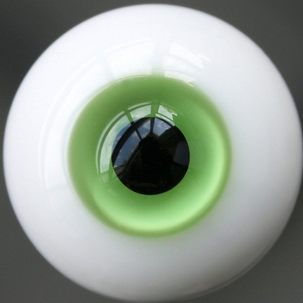 New 16mm Dark Green Glass BJD Eyes for MSD DOD DZ AOD Volks Dollfie Outfits