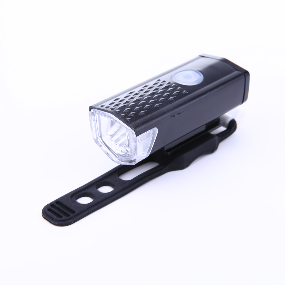 Black Cycling Bicycle LED Lamp USB Rechargeable Bike Head Front Lights Torch
