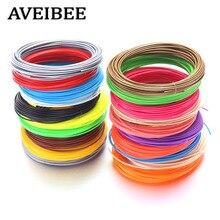 AVEIBEE 100 Meter Random 10 Color 1.75MM ABS Filaments 3D Printing Materials For 3 D Pens Threads Plastic Printer Consumables