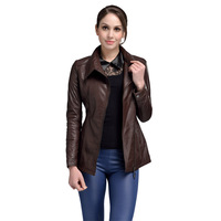 AIBIANOCEL Brand Guaranteed 100% Genuine Leather Jackets Women Spring Fashion Real Sheepskin Brown Long Leather Trench BY4
