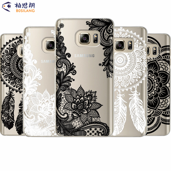 Palace Flowers Silicone Case For Coque Samsung Galaxy S6 S7 Edge S8 Plus J2 J3 J5 J7 A3 A5 A7 15 2016 2017 Note 8 Cover