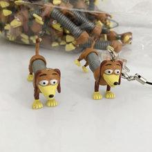 20 piezas Toy Story Slinky Dog PVC acción figura juguete llavero muñeca  cachorro modelo juguete bolsa colgante 21046a15eed