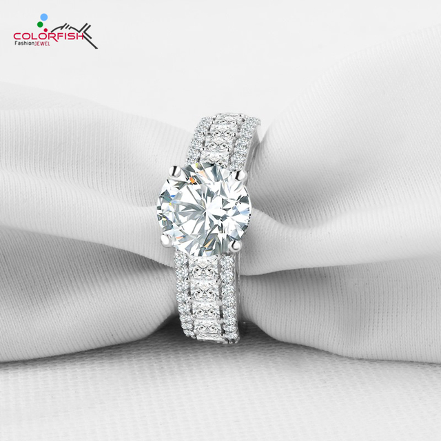 Colorfish Victoria Wieck Princess Cut Engagement Rings For Women