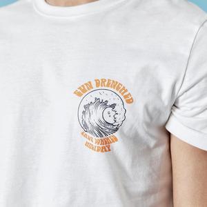 Image 4 - SIMWOOD 2020 sommer neue urlaub t hemd männer kausal strand 100% baumwolle t shirt Meer welle druck dünne mode tops 190305