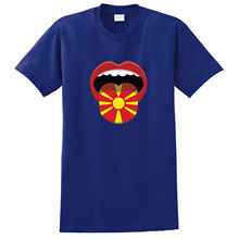 Macedonia Flag Mouth Print T-shirt Harajuku Tops Fashion Classic Unique t-Shirt gift free shipping