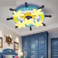 Boat Rudder Children's Room Ceiling Lamps Creative Starfish Cartoon Light Modern Male Girl Bedroom Eye Protection Led Lamp