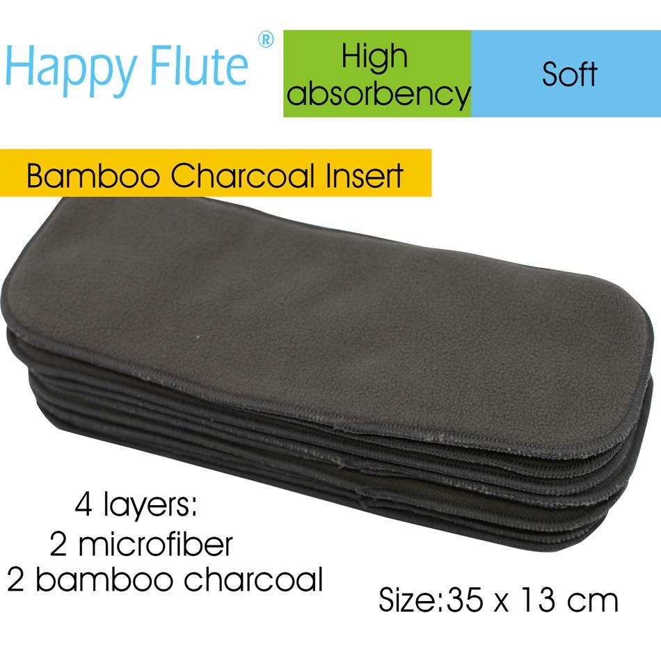 Charcoal Bamboo Diaper Insert, Nappy Insert, Diaper Pad For All HappyFlute Onesize Diaper Cover, Pocket Diaper,35cm X13cm.l