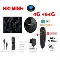 hk1 mini plus Android 9.0 TV Box 2G 16G/ 4G 64G/32G supports bluetooth 2.4g 5g wifi Rockchip RK3318 USB3.0 H.265 4K 60fps