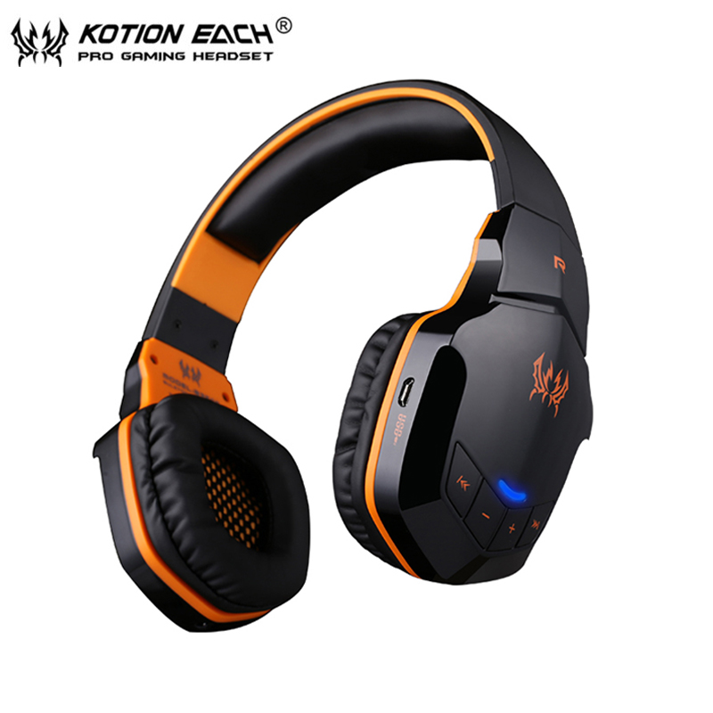 KOTION EACH B3505 Bluetooth Headset Wireless Stereo Headphones with Microphone Volume Control Handsfree Calls for iPhone Xiaomi meelectronics atlas on ear headphones with inline microphone and universal volume control