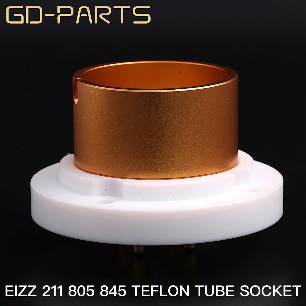 EIZZ 211 805 845 4pin Teflon Vacuum Tube Socket Vintage Valve Electron Tube Base 24K Gold