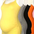 Maternity Shirts Clothes Pregnant Solid Sleeveless Maternity Blouse White Orange Black Shirt Summer Candy Color Pregnancy Blouse