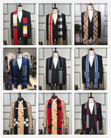 2017 Men S Winter Scarf 30 Wool 70 Acrylic Very High Quality Scarfs For Men Plaid