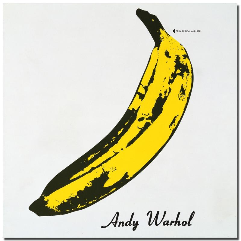 Lienzo de pintura Andy Warhol Imagen de plátano de gran tamaño Impresión clásica Carteles de pared Cuadros para sala de estar Decoración Pintura