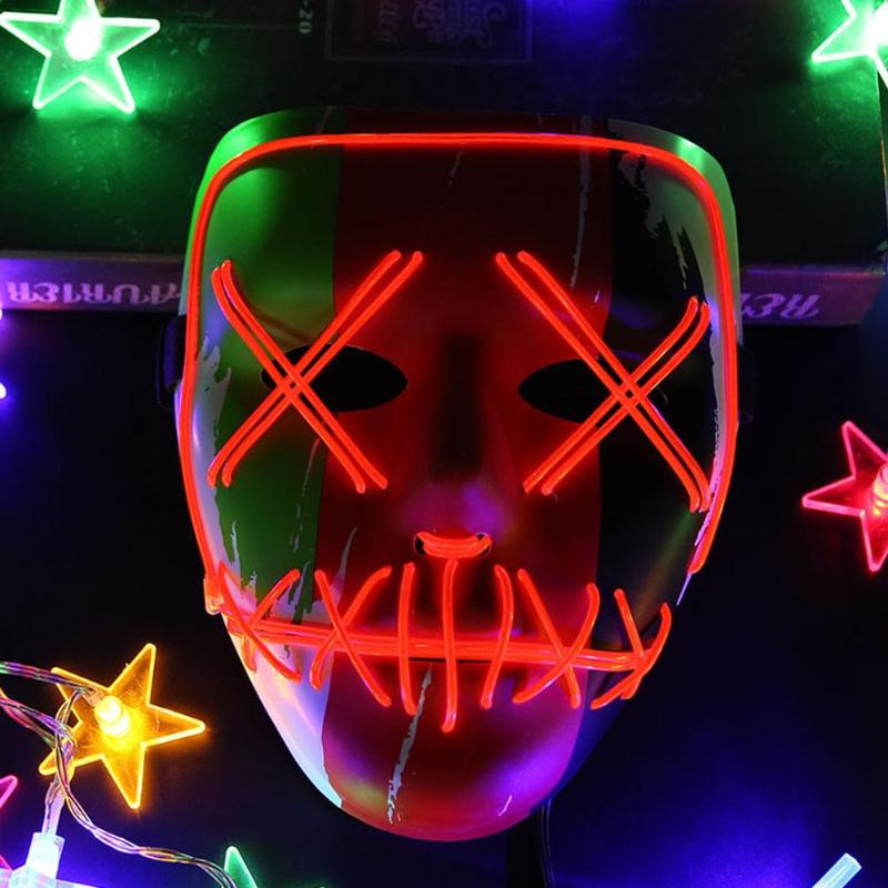Halloween Mask LED Light Up Party Masks The Purge Election