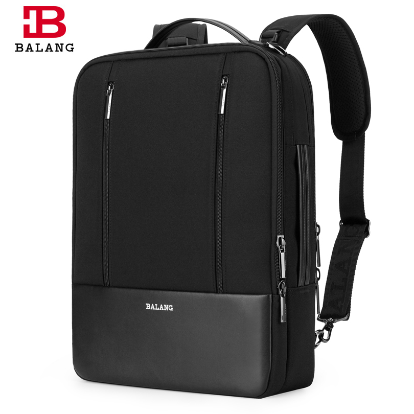 BALANG Brand Men's Waterproof Notebook Computer Bag Women 15.6'' Laptop Backpack Fashion Travel School Bags Shoulder Rucksack